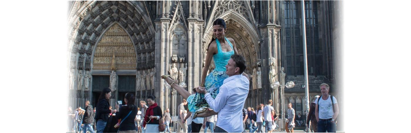 Tango vor dem Kölner Dom